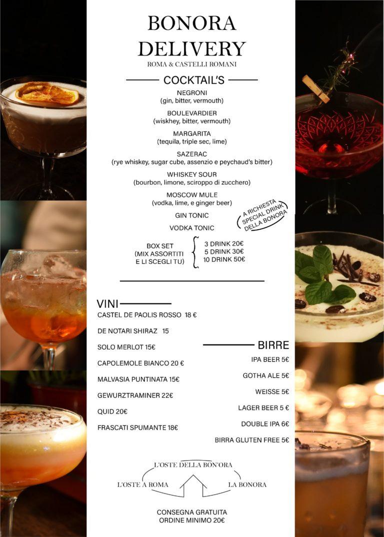 bonora delivery menu DRINK