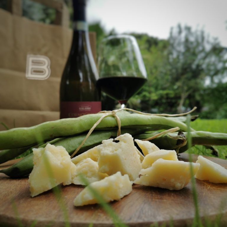 bonora delivery vino, fave e pecorino